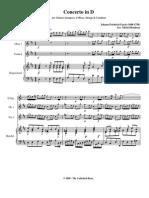 Concerto in D Harpsichord - Fasch