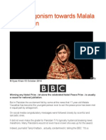 The Antagonism Towards Malala in Pakistan