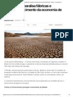 Falta d'Água Paralisa Fábricas e Ameaça Crescimento Da Economia de São Paulo - Noticias - UOL Economia