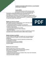 Identificar Los Modelos de Inventario Determinísticos
