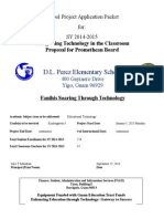 dlp elementary school project application form tech in classroom promethean boards