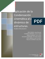 Aplicación de La Condensacion Al Analisis Dinamico de Estructuras