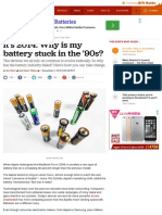 It's 2014. Why is My Battery Stuck in the '90s? - CNET
