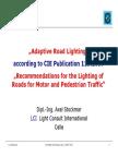 Adaptive Road Lighting