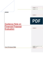 Financial Proposal Evaluation Guidance Note