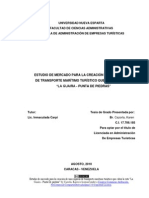 Venezuela Estudio Mercado Creacion Empresa de Transporte Maritimo Cubra Rutas
