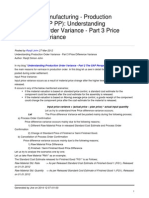 Understanding Production Order Variance Part 2 Price Difference Variance