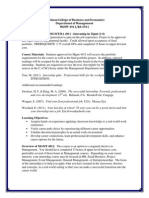 mgmt ba 4911 internship syllabus and portfolio packet--spring 2014