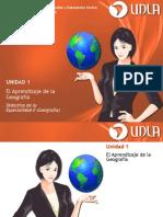 Unidad i El Aprendizaje de La Geografc3ada