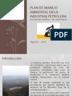 Plan de Manejo Ambiental en La Industria Petrolera