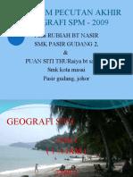 PERKONGSIAN ILMU - geografi 2009