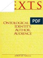 (SUNY Series in Philosophy) Jorge J. E. Gracia-Texts_ Ontological Status, Identity, Author, Audience-State University of New York Press