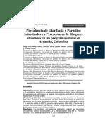 Prevalencia de parasitos y Giardiasis