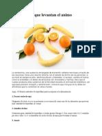 10 Alimentos Que Levantan El Ánimo