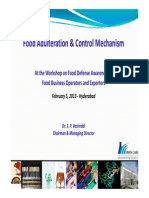 Food Adulteration & Control Mechanism 05 Feb 2013