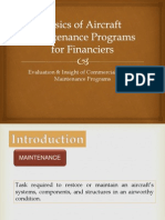 Basics of Aircraft Maintenance Programs for Financiers