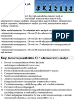 Administrative Analyst Job Description