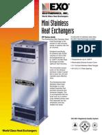 Exothermics - Mini Stainless Steel Heat Exchanger - Brochure
