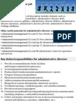 Administrative Director Job Description