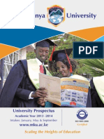 Prospectus 2013 Mt Kenya University KINGDOM