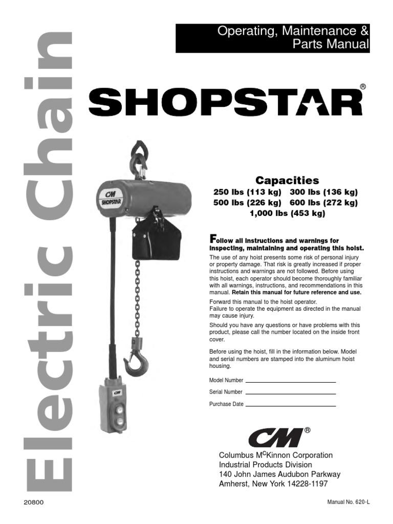 cm shopstar man power supply fuse (electrical)Cm Shopstar Hoist Wiring Diagram 300 #18