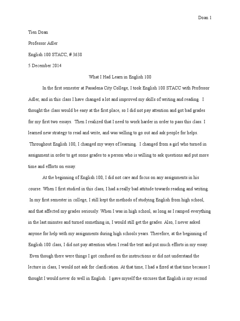 Sample Essay Proposal  Essay In English For Students also Example Of A College Essay Paper Reflection Essay  Mindset  Essays My English Essay