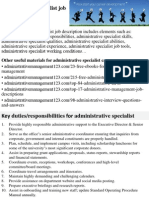 administrative manager job description