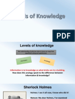 Levels of Knowledge (1)