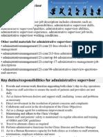 Administrative Supervisor Job Description