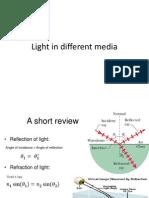 EMwaves-light in Different Media