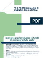 Calitate Si Profesionalism in Managementul Educational
