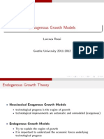 Goethe University Lectures on Endogenous Growth
