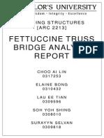 Building Structure Fettuccine Bridge Analysis Report