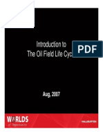 Introduction to Oil Field Life Cycle