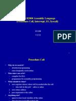 MIPS Procedure Call Interrupt IO Syscall