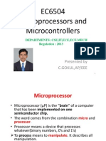 EC6504 Microprocessor and Microcontroller Lecture Notes All 5 Units