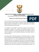 Post Cabinet briefing 11 December 2014