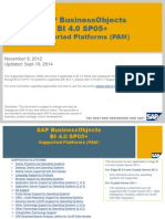 SAP BusinessObjects BI 4 0 SP05+ Supported Platforms (PAM) 0 SP05 Product Availability Matrix (PAM)