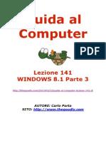 Guida al Computer - Lezione 141 - WINDOWS 8.1 Parte 3