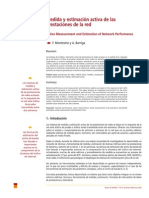 Medida y Estimacion Activa de Prestaciones de Red