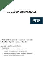 PATOLOGIA CRISTALINULUI