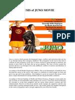 Analysis of Juno Movie