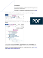 Create a Document Outline in Outline View