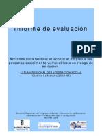 Informe de evaluación PRIS. Castilla-La Mancha