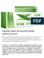 Exportar Datos de Sensores Desde Arduino a Excel - Panama Hitek