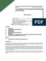 ABPE E002-1998 - Tubos de Polietileno PE Para Redes de Distribuição e Adutoras de Água - Especificação