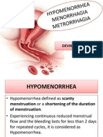 Abnormal Menstruation