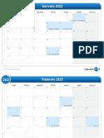 calendario mensile-2022