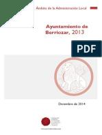 Informe sobre Berriozar 2013 Comptos