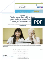 'Tenho Medo Da Qualifica...Visual - Jornal O Globo